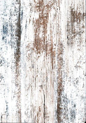 trendteam Esstisch Küchentisch Universal, 160 x 77 x 90 cm in Pine Weiß, Chabby Chic Retro Dekor erweiterbar durch Ausziehfunktion auf 200 cm