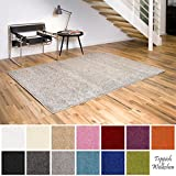Shaggy-Teppich   Flauschige Hochflor Teppiche fürs Wohnzimmer, Esszimmer, Schlafzimmer oder Kinderzimmer   einfarbig, schadstoffgeprüft, allergikergeeignet (Creme, 120 x 170 cm)