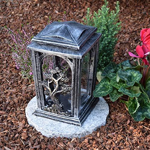 Garten Paradies Handmade Grabkerze Grablampe Grableuchte Grabdekoration Grablicht Grabschmuck + Kerze Gratis