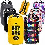 Drybag in 2L 5L 10L 20L 30L o. 40L – 100% wasserdichter Packsack / Seesack / effektiver Schutz gegen Staub, Sand, Wasser & Schmutz ideal für Kajak, Kanu, Segeln, Angeln, Schwimmen, Beach, Snowboarden, Skifahren, Bootfahren, Camping, Wassersport & Tauchaus / lustige Kacheln 40L