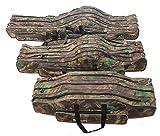 Angeltasche Rutentasche Rutenfutteral Angelkoffer Anglertasche Tasche (Tasche3fach) (130cm Länge)