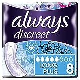 Always Discreet Inkontinenz-Einlagen+ Long Plus Bei Blasenschwäche, 8 Stück