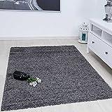 Prime Shaggy Teppich Farbe Anthrazit Hochflor Langflor Teppiche Modern für Wohnzimmer Schlafzimmer - VIMODA, Maße:80x150 cm