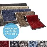 Panorama24 Premium Fußmatte/Sauberlaufmatte für Eingangsbereiche 90x150, Farbe: blau - Schmutzfangmatte in 6 Größen als Türvorleger innen und außen