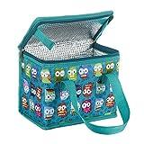 Kühltasche Lunch Tasche Isoliertasche zur Arbeit und Schule gehen 4 Liter owl , 22 x 17 x 12 cm