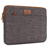 DOMISO 15.6 Zoll Laptophülle Hülle Sleeve Case Etui Notebook Schutzhülle Canvas-Gewebe Tasche für 15.6' Notebook Computer / 15.6' Dell Inspiron 15 / 15.6' Lenovo IdeaPad 310, Braun