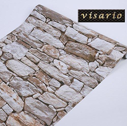 Tapeten Folie selbstklebend 10m x 45cm 5 Motive Steinoptik Steine Dekorfolie Möbelfolie (3008)