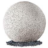 Leuchtkugel Garten in Natur-Stein Optik Ø 50cm - IP65 für Außen Kugelleuchte Granit mit OSRAM 10W E27 LED warmweiß 3m Kabel