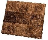 HemingWeigh Fuzzy-Bereichs-Wolldecke - 9 Flauschiger Teppichfliesen Für Kinder - (Braun)