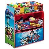 Spielzeugregal - Standregal - Aufbewahrungsregal 6 Boxen mit Motivauswahl (Paw Patrol)