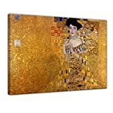 Keilrahmenbild Gustav Klimt Adele Bloch Bauer I - 120x90cm quer - Wandbild Alte Meister Kunstdruck Bild auf Leinwand Berühmte Gemälde