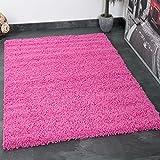 VIMODA Prime Shaggy Teppich Farbe Hochflor Langflor Teppiche Modern für Wohnzimmer Schlafzimmer, Maße:150 cm Quadrat