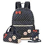 Vbiger Schulrucksack Mädchen Schulrucksack Schultasche Mädchen Schulranzen Daypacks Freizeitrucksack Backpack für Mädchen 3-In-1 Schulrucksack für Schule und Freizeit