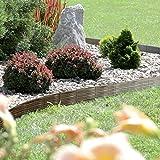 Rasenkante Gartenpalisade Beeteinfassung Beetumrandung 3,9m Weidenzaun-Optik (Braun)