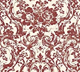 Livingwalls Vliestapete Moments Tapete mit Ornamenten barock 10,05 m x 0,53 m creme metallic rot Made in Germany 328315 32831-5